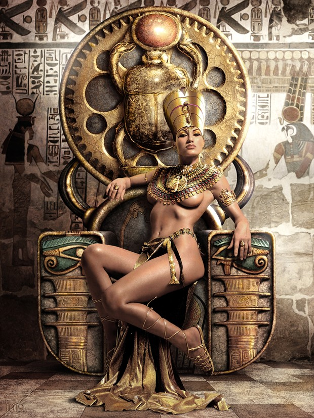 %22EGYPTIAN QUEEN OF THE 1019 PROPHECY%22 Surreal Photo by Artist Jeffery Scott (1019)