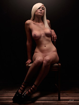 %22ON THE OLD CHAIR%22 Artistic Nude Photo by Artist Jeffery Scott (1019)