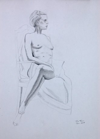 %22Turned to Her Left%22 Artistic Nude Artwork by Artist Little Sodus Studio