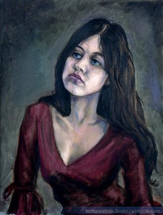 %2343 Expressive Portrait Artwork by Artist Richard White