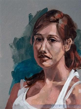 %2377 Expressive Portrait Artwork by Artist Richard White