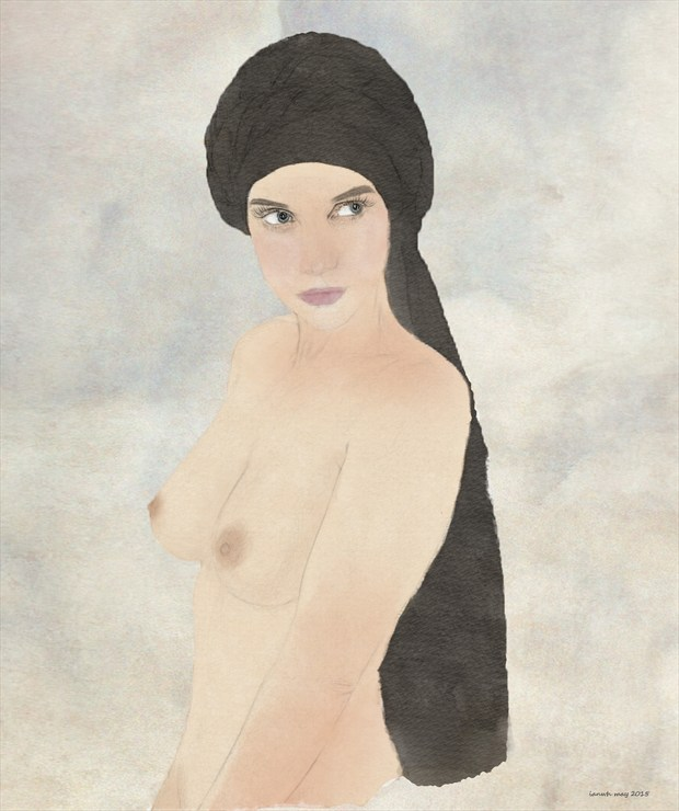 Classic Portrait Artistic Nude Artwork by Artist ianwh