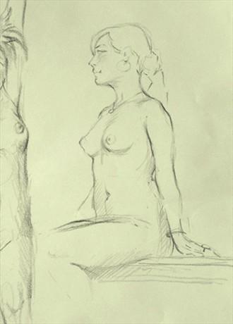 Female Figure Study Artistic Nude Artwork by Artist Nicola