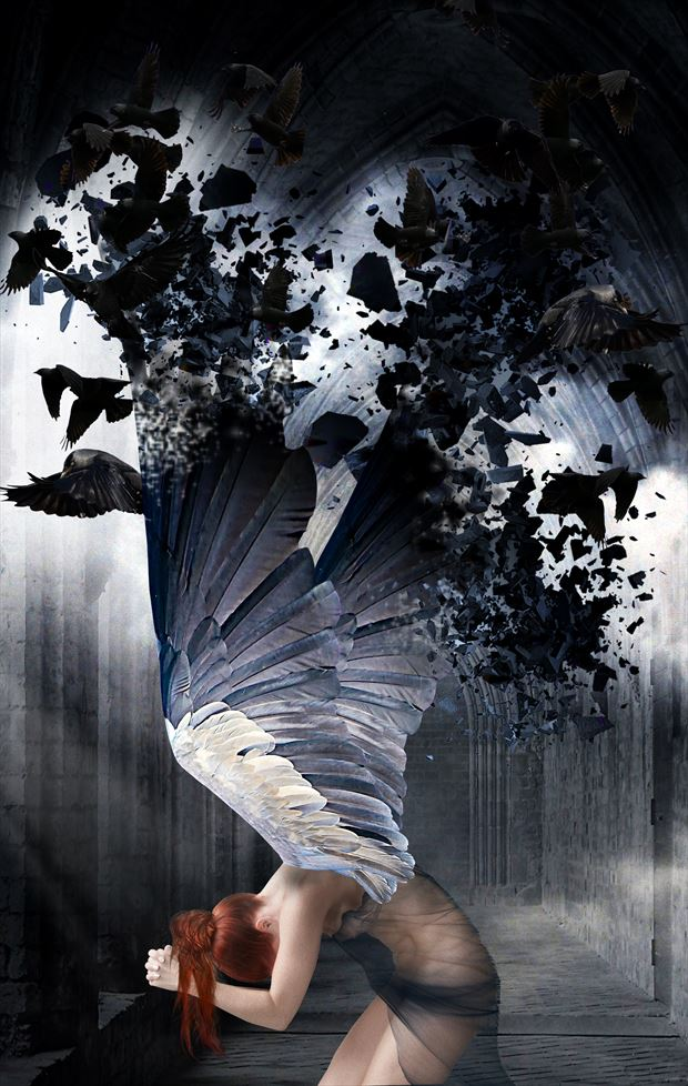 angels death fantasy artwork by artist karinclaessonart