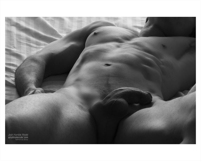 awaiting my hungry lover self portrait artistic nude photo by model josh