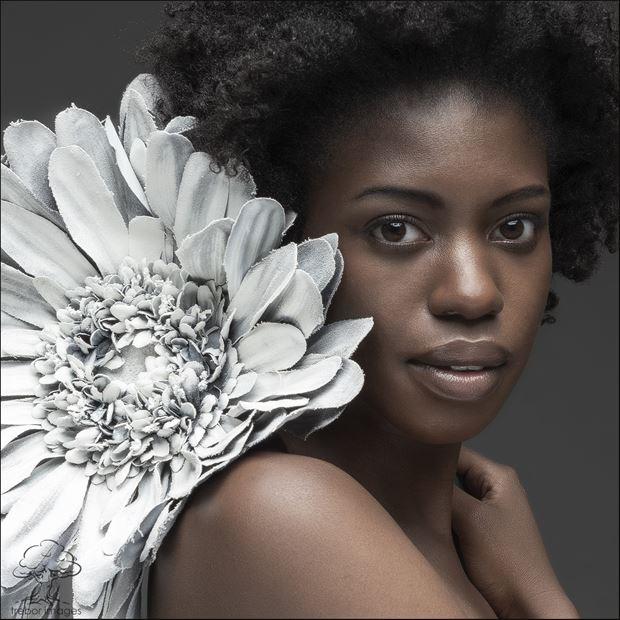 black white abstract photo by model faith vivien babirye