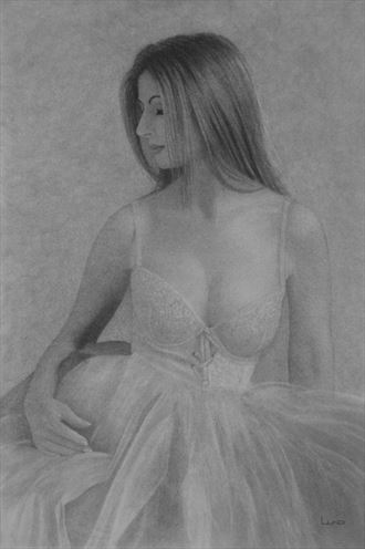 captivating moment lingerie artwork by artist legends by lund