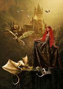 dragon queen nature artwork by artist karinclaessonart