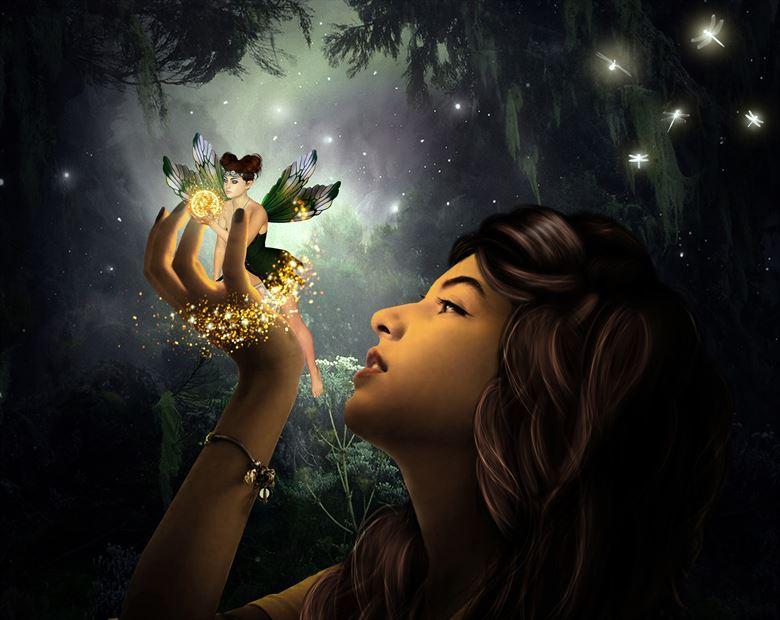 elvenia queen of elves fantasy artwork by artist karinclaessonart