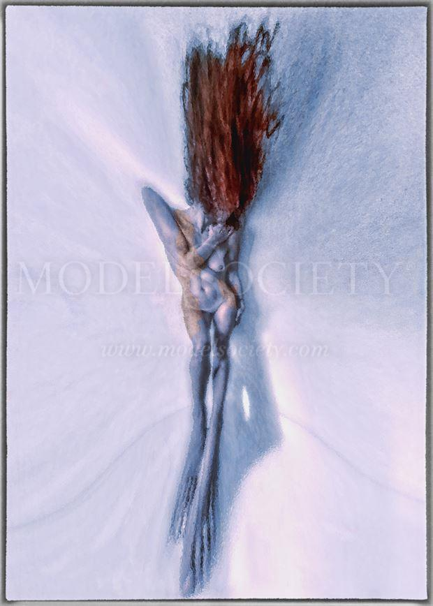 extreme selfportrait artistic nude artwork by model ilse peters
