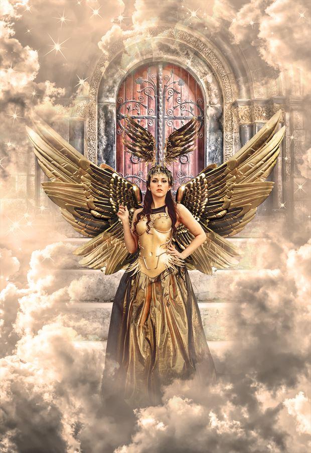 golden fantasy artwork by artist karinclaessonart
