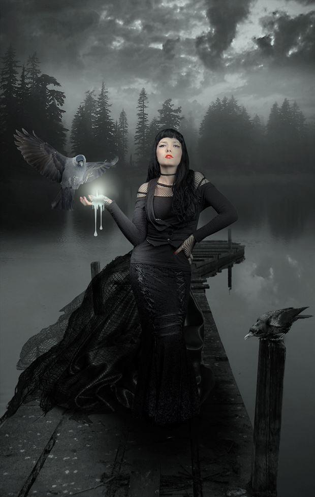gothic nights fantasy artwork by artist karinclaessonart