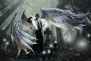 gothis angel fantasy artwork by artist karinclaessonart