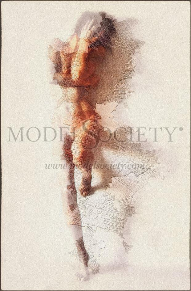 hide selfportrait artistic nude artwork by model ilse peters