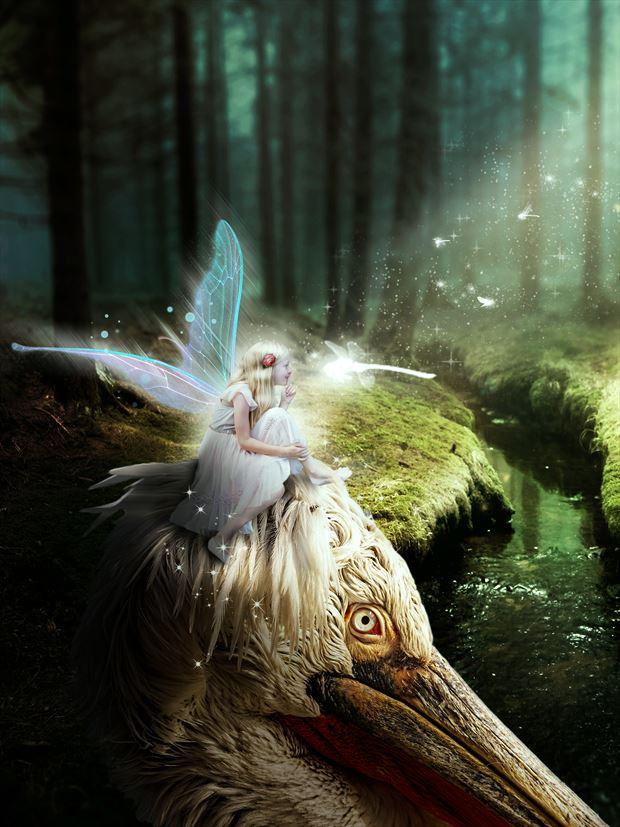 hush sharing magical secrets nature artwork by artist karinclaessonart