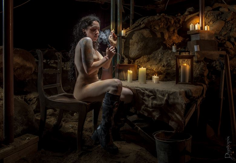 into the cave_1 artistic nude artwork by photographer dystopix photo