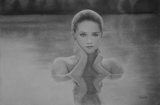 lady of the lake implied nude artwork by artist legends by lund