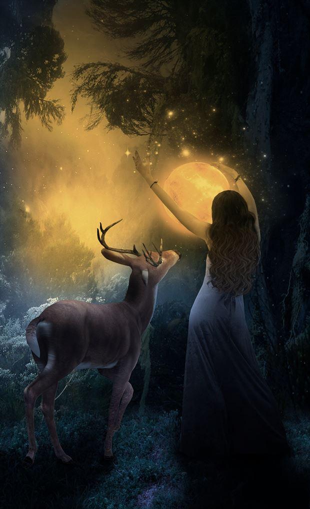 making light fantasy artwork by artist karinclaessonart