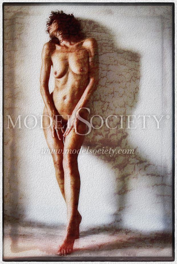 passion selfportrait artistic nude artwork by model ilse peters