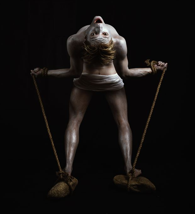 prometheus chained chiaroscuro artwork by photographer hruby