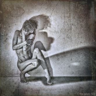 protect myself from another another contamination of covid19 selfportrait artistic nude artwork by model ilse peters