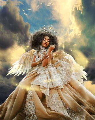 queen of heaven fantasy artwork by artist karinclaessonart