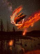 shooting star fantasy artwork by artist karinclaessonart