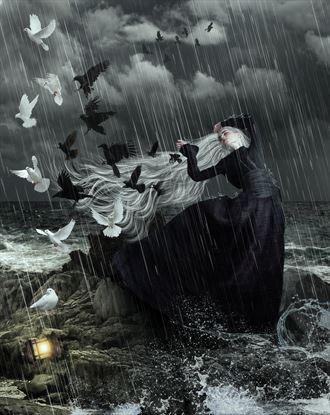 sorrow and hope fantasy artwork by artist karinclaessonart
