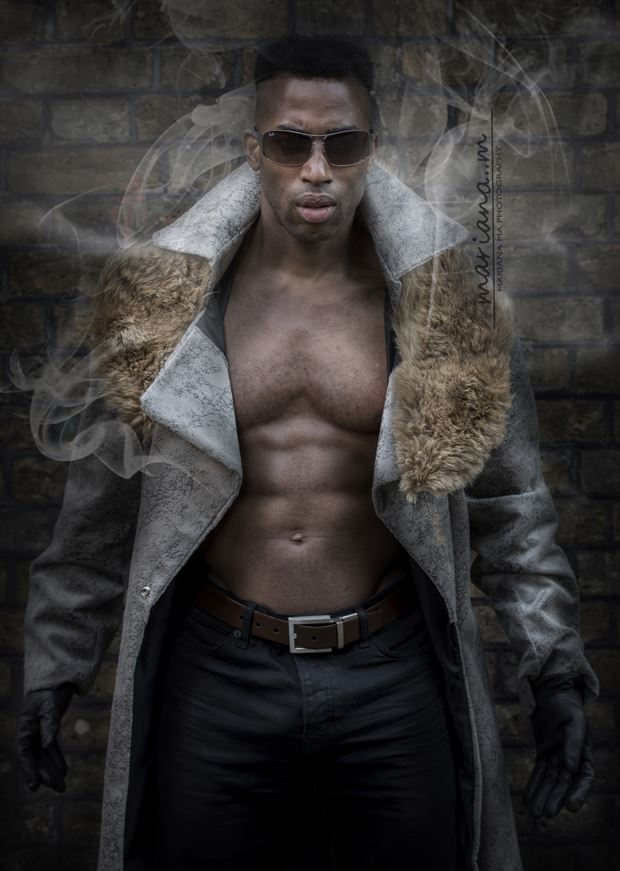 the city wolf editorial project out of hibernation surreal photo by model matriix
