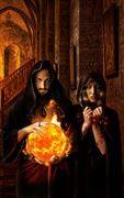 the priest of fire fantasy artwork by artist karinclaessonart