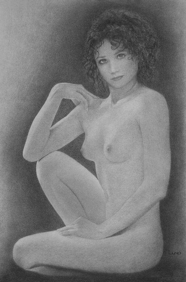 timeless in her splendor artistic nude artwork by artist legends by lund