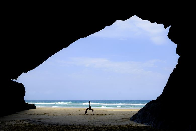 Yoga in a Cave