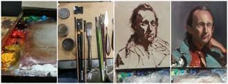 16x16  Alla Prima  on Canvas  Portrait Artwork by Artist ShunXie