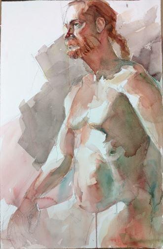 2 hour pose Artistic Nude Artwork by Model Michael SCM Model