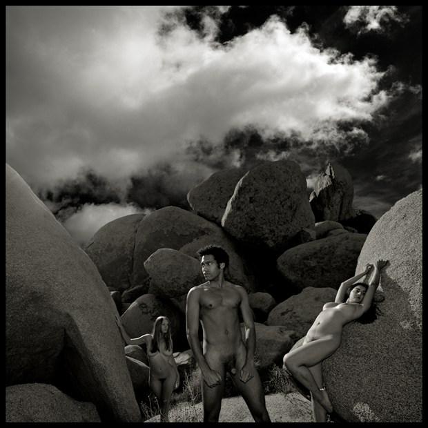 2010 Jonny, Rosie and Wara, Joshua Tree, CA Artistic Nude Photo by Photographer R. Michael Walker