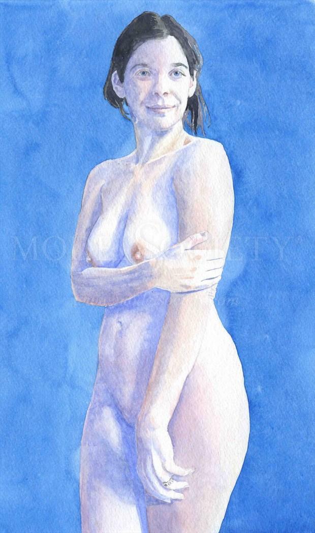 2011, Watercolor Artistic Nude Artwork by Artist aquarellist