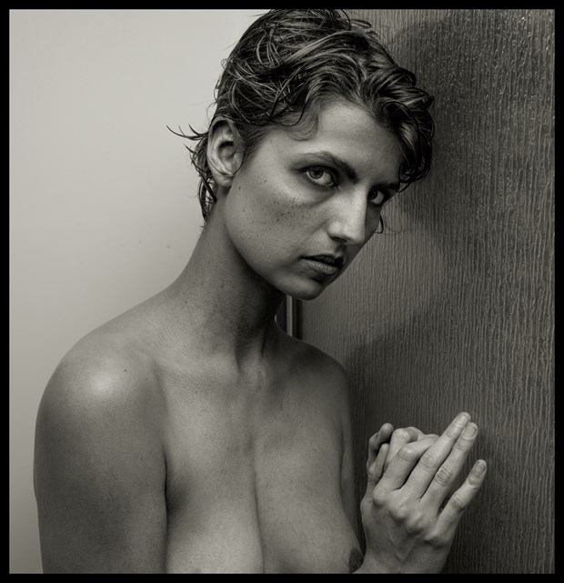 2016 Ash In The Shower Artistic Nude Photo by Photographer R. Michael Walker