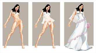 3 Devons Artistic Nude Artwork by Artist Ronnie Werner