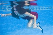 Isobel underwater