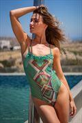 Karolina Wozniak at Club Zak Mykonos in Solymar Beach Boutique swimwear