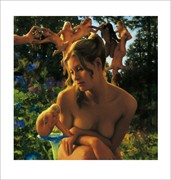 A Fairy in Waiting Artistic Nude Artwork by Artist Matthew Joseph Peak