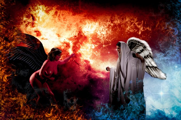 A Fight for the Soul   The Damned Series Artistic Nude Photo by Photographer Mez