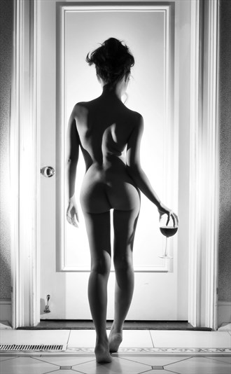 A GLASS OF WINE Artistic Nude Photo by Model A N O N Y M