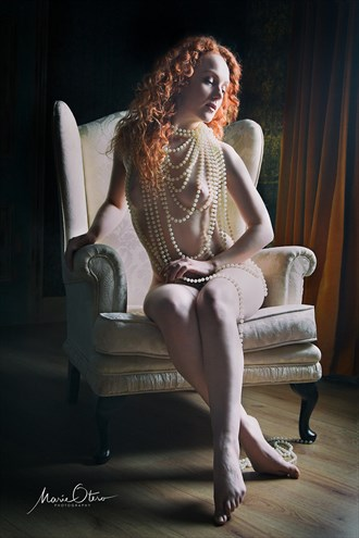 A Girl With Pearls Artistic Nude Photo by Photographer Marie Otero