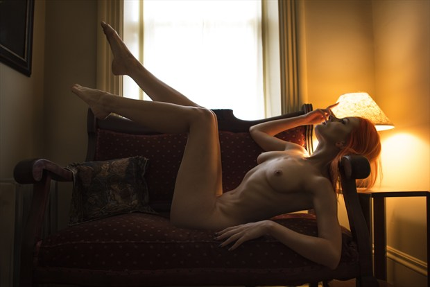 A Light at the End of a Hallway Artistic Nude Photo by Photographer Jerry Jr