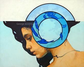 A Moment of Reflection Expressive Portrait Artwork by Artist jart64