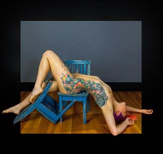 A Recumbent Figure Artistic Nude Photo by Model Amanda Morales
