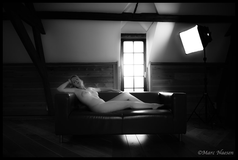 A l'aise Artistic Nude Photo by Photographer Marc Naesen
