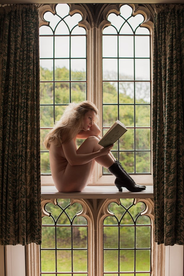 A little light reading  Artistic Nude Photo by Model Muse