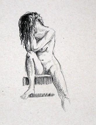 A little shy Artistic Nude Artwork by Artist TEL